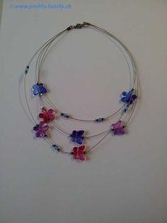 """3-teilige Halskette """"multicolor"""" - Zu finden auf www.prolife-family.ch in """"Shop für Afrika""""."""