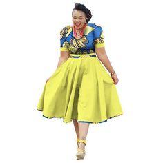 Plus Size Clothing 2017 summer Dress African Print Dress Dashiki For Women Bazin Riche Vestidos Femme Dress Plus Size BRW Short African Dresses, African Print Dresses, African Fashion Dresses, Fashion Outfits, African Outfits, African Fashion Designers, African Print Fashion, African Attire, African Wear
