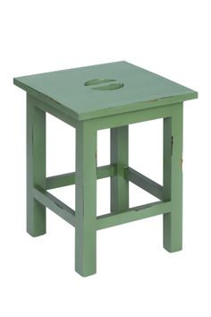 french green stool