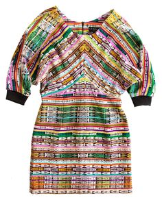 La Selva. One-of-a-kind dress from vintage Guatemalan fabric.