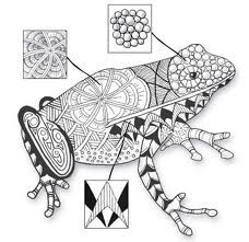 zentangle frog, i love how the description boxes have zentangle zoom! -artista83 says, i want it!