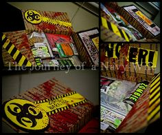 Zombie themed Care package!  #zombies  http://www.journeyofanavywife.com