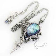 ELIVINTARH-silver,labradorite,black pearl,iolite by LUNARIEEN.deviantart.com on @deviantART