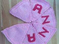 "Handmade Personalised Knitted Bunting ""Anna"" Gift Baby Toddler  