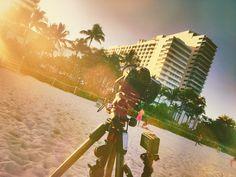 #behindthescenes #capturingmoments #filming double #sunset #timelapse using #canon5dmarkiii #dslr #camera w/ Lexar 128gb CF card & Tiffen #ndfilter + #goprohero4 on Manfrotto #tripod in #miami #beach  • For more info: AnthonyDigitalMedia.com •  #miamibeach #beachlife #miaminights #miamiphotographer #miamiphotography #lensflare #lightleak #cameraman #cameraready #videographer #videography #videoshoot #videoproduction #filmmaker #filmmaking #travel #travelphotography
