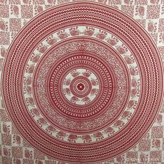 RED ELEPHANT HIPPIE MANDALA TAPESTRY WALL HANGING DORM DECOR BEDCOVER Home Decor #Traditional