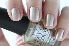 OPI New Orleans Take A Right On Bourbon Silver Gold Metallic Nail Polish - Summer Nails