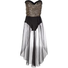 Lipsy Sequin Leotard Dress ($77) ❤ liked on Polyvore