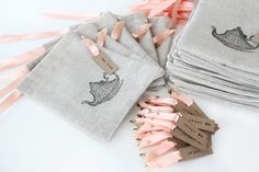 love, @Maddy Hague! :: Stamped Handmade Drawstring Pouches