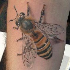 Fun walk up today at #tattoolapalooza #realistic #realism #colortattoos #bugs… Misfits TattooAmazing TattoosBeautiful TattoosHoney Bee TattooColour ...