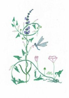 The most exquisite botanical alphabet by Bernadette Reveilhac. Printed on high quality linen. Easy surface embroidery stitches such as satin, chain or outline