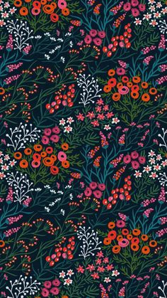 summer blooms by anna aniskina más Textile Patterns, Color Patterns, Print Patterns, Textiles, Floral Patterns, Summer Patterns, Vector Pattern, Pattern Art, Pattern Flower
