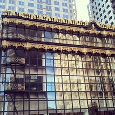 The Hallidie Building in San Francisco—site of the (recently restored) first glass curtain wall in the US.