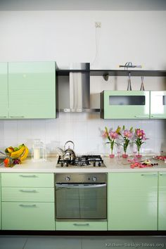 Modern Green Kitchen Cabinets 03 Design Ideas Org