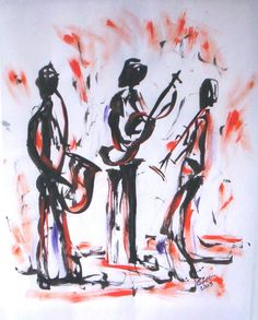 JazzArt Trio Home Art, Calligraphy, Gallery, Painting, Penmanship, Paintings, Calligraphy Art, Draw, Drawings