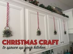 Easy DIY project to get your kitchen Holiday-Ready. Easy Diy Projects, Murals, Christmas Crafts, Holiday Decor, Kitchen, Home Decor, Cooking, Decoration Home, Room Decor