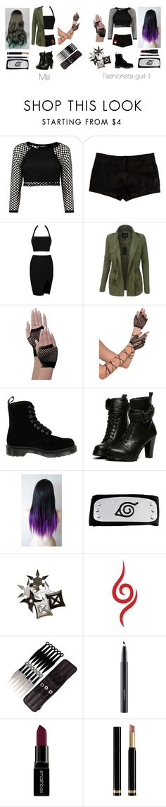 """""""Me and my BFF in Naruto"""" by harrypotter-gurl ❤ liked on Polyvore featuring L'Agence, LE3NO, Dr. Martens, WithChic, Equipment, MAC Cosmetics, Arbonne, Smashbox and Gucci"""