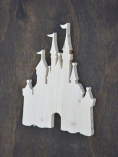 Disney Castle Wood Cutout by SkipToothCreations on Etsy