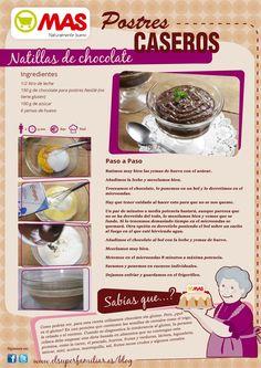 Natillas de chocolate sin gluten para celíacos