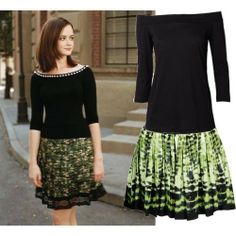 Oh, how I miss Gilmore Girls...  Love the top and skirt for a demure look.