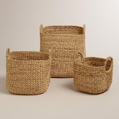 Aimee Arrow Baskets from the World Market. One bonus of these baskets is that they're woven out of water hyacinth plants, which can be found in Cyrodiil in the Elder Scrolls IV: Oblivion. Maybe merchants from Cyrodiil trade fine wares like this with Skyrim folk.