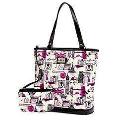 Lulu By Guinness Midsize Tote In Cream Pink City Jcpenney