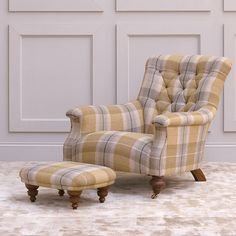 John Sankey Slipper Chair and Toggle Footstool in Viola Barley Wool Fabric Wingback Chair, Armchair, Slipper Chairs, Wool Fabric, Occasional Chairs, Fabric Swatches, Living Rooms, Accent Chairs, Upholstery