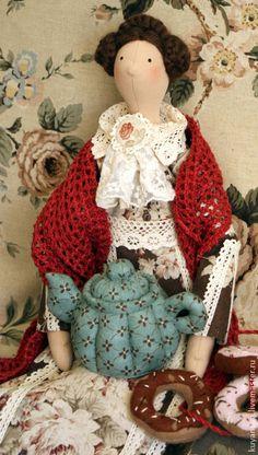 Мамин чай - тильда,тильда кукла,интерьерная кукла,текстильная кукла,чай