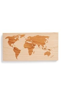 Free shipping and returns on Richwood Creations 'World Map' Wall Art at Nordstrom.com. Add a touch of international flair to your décor with a simplified world map laser-engraved in solid cherry wood.<br><br>This item is presented in special partnership with Etsy, an online community of small-scale makers and artists whose quality-crafted goods represent the best in current DIY, artisanal and homegrown trends. Nordstrom curates a rotating, limited-quantity collection of Etsy goods specially…