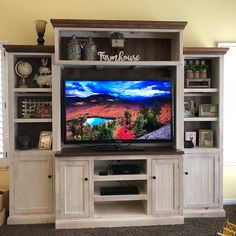 Entertainment Center Media Console Home Theater Reclaimed Reclaimed Wood Media Console, Tv Stand And Entertainment Center, Create And Craft, Media Center, Furniture Making, Furniture Stores, Furniture Ideas, My Living Room, Home Theater