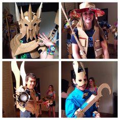 3-D design final project-- cardboard costumes