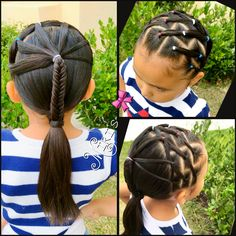 Hair style for little girls red, white and blue