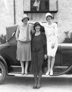 """Ruth Bryan Owen, center, is pictured with her secretary, driver and campaign car """"The Spirit of Florida"""" during a campaign for Congress in 1929. She became the first woman to serve in Congress from Florida. 