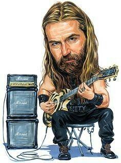 Zakk Wylde by Art - Zakk Wylde Painting - Zakk Wylde Fine Art Prints and Posters for Sale Funny Caricatures, Celebrity Caricatures, Heavy Metal Art, Heavy Metal Bands, Hard Rock, John Petrucci, Black Label Society, Zakk Wylde, Ozzy Osbourne