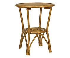 Tavolino in rattan Vienna - d 60/h 70 cm