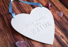 Here Comes The Bride Wedding Sign  to carry down the by Susabellas, $29.95