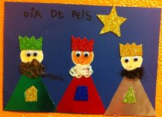 REIS MAGOS Christmas Crafts For Kids To Make, Christmas Activities, Kids Christmas, Kindergarten Art Activities, Preschool Crafts, Christmas Door Decorations, Christmas Ornaments, Epiphany Crafts, Children's Church Crafts