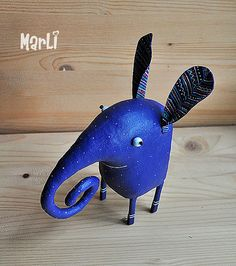 purple elephant by MarLitoys on Etsy