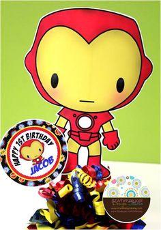 Iron Boy Superhero Inspired Centerpiece by itzwhimzeycal on Etsy