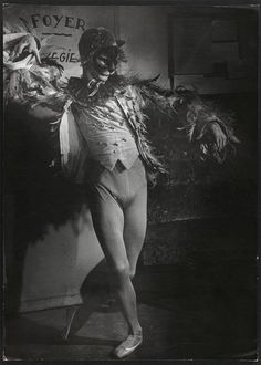 "Dancer in ""Les demoiselles de la nuit"" ballet,1949 (costume by Leonor Fini). Image © Brassai,"