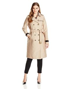 Amazon kikkerland travel size laundry bag world map home vera wang womens chloe double breasted trench coat bylon beige small gumiabroncs Images
