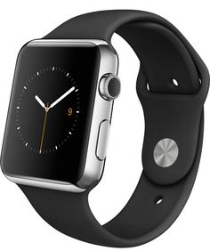  Watch — 42mm Stainless Steel Case with Black Sport Band