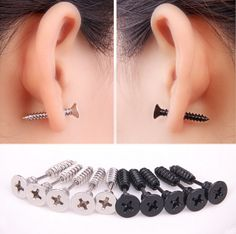 1PC Titanium Anodized Stainless Steel Body Jewelry Helix Ear Piercing Punk Lag Spike Ear Stud Earring Fake Stretchers Plug -in Body Jewelry from Jewelry on Aliexpress.com | Alibaba Group