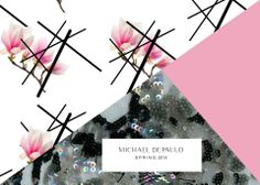 Materials for Spring.  #flowers #beading #pinkandblack #fashion #designer #fashiondesigner #michaeldepaulo