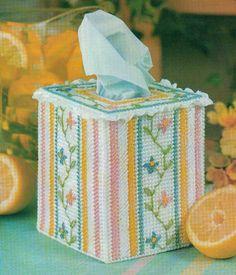 GARDEN TRELLIS TISSUE BOX COVER PLASTIC CANVAS PATTERN INSTRUCTIONS     Crafts, Needlecrafts & Yarn, Embroidery & Cross Stitch   eBay!