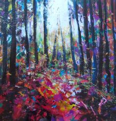Woodland Light by Julie Dumbarton. I love Julie's work - and I'm attending one of her art courses very soon. Can't wait!