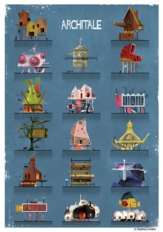 ARCHITALE city compilation | Illustrations by Federico Babina