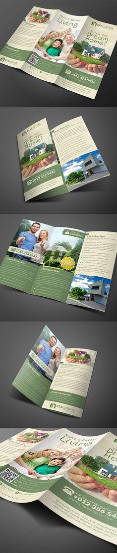 Real Estate Trifold Brochure #brochuredesign #brochuretemplates…