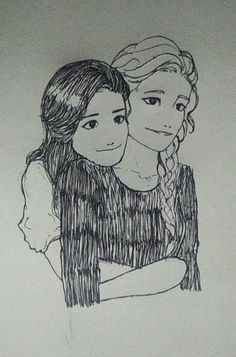Emma and Cristina late night doodling :)