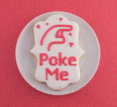 facebook poke valentine cookie